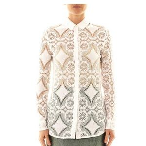 Burberry Prorsom Lace Blouse
